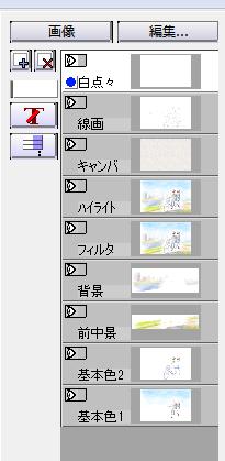 【図】加工編終了時のレイヤ構成
