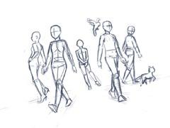 【図】体の下描き