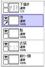 【図】SAIでのレイヤ構成
