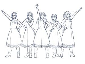 【図】LAST Aice5感想イラスト・えんじ色衣装Ⅱ編(3) 下描き