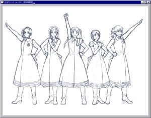 【図】LAST Aice5感想イラスト・えんじ色衣装Ⅱ編(3) 結合された「名前なしのLAYER0」(Pixia)