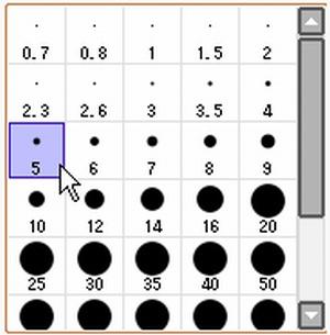 【図】LAST Aice5感想イラスト・えんじ色衣装Ⅱ編(3) 線画を描くときのブラシサイズ(SAI)