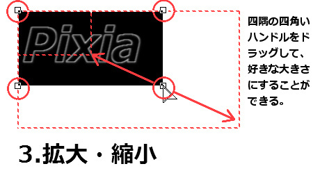 【図】3.拡大・縮小