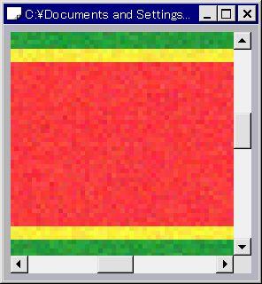 【図】ノイズ付加後の拡大画像│「Pixiaでリボン画像を作る」
