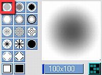【図】ブラシの設定│「Pixiaでリボン画像を作る」
