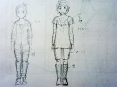 【図】2009年秋トップ絵:服装スケッチ